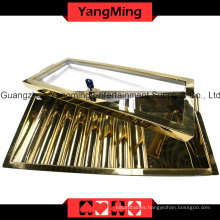 Bright Gold Chip Tray (YM-CT13)